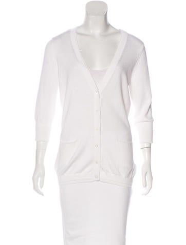 Magaschoni Knit Button-Up Cardigan None