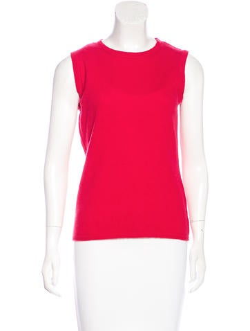 Magaschoni Sleeveless Cashmere Top None