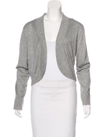 Magaschoni Silk Open Front Cardigan None