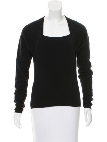 Magaschoni Cashmere-Blend Long Sleeve Sweater None
