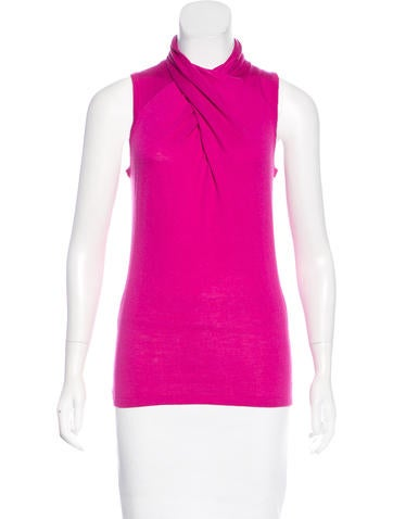 Magaschoni Knit Sleeveless Top None