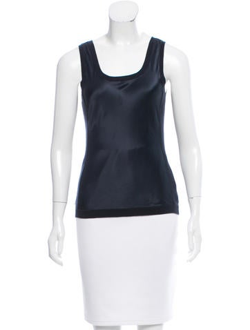 Magaschoni Silk Panel Knit Top None
