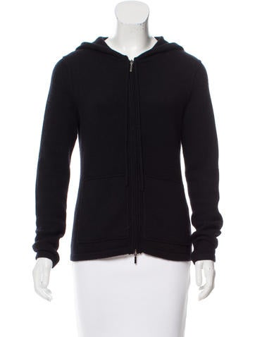 Magaschoni Hooded Zip-Up Sweater None