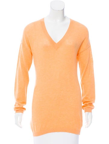 Magaschoni V-Neck Knit Top None