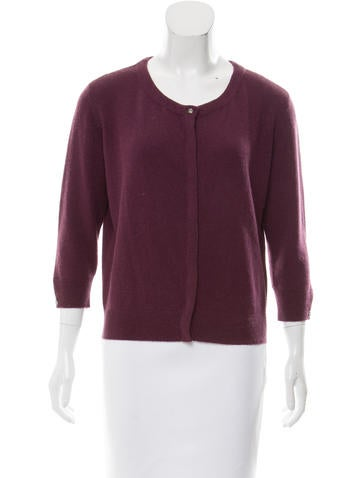 Magaschoni Cashmere Button-Up Cardigan w/ Tags None