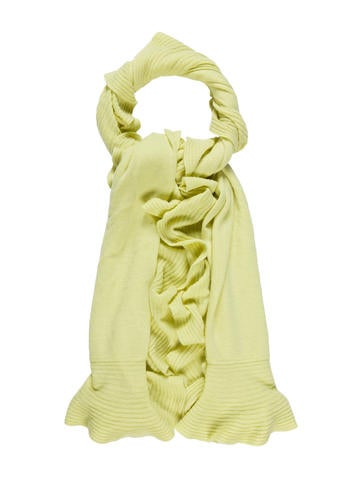 Magaschoni Cashmere Ribbed Scarf None