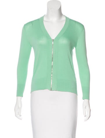 Magaschoni Cropped Zip-Up Cardigan None