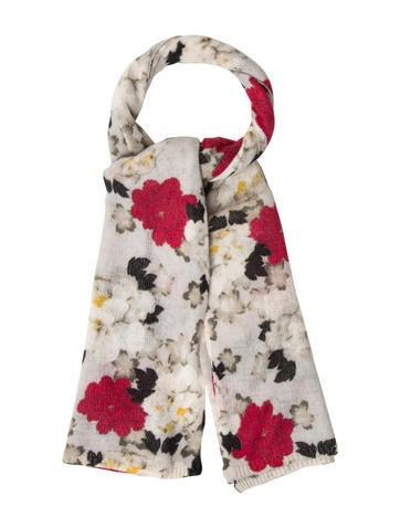 Magaschoni Cashmere Floral Scarf None
