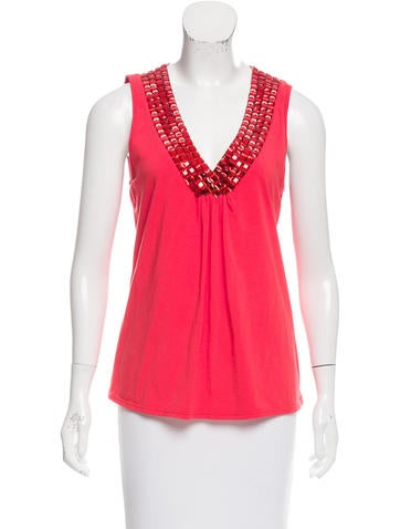 Magaschoni Embellished Sleeveless Top None