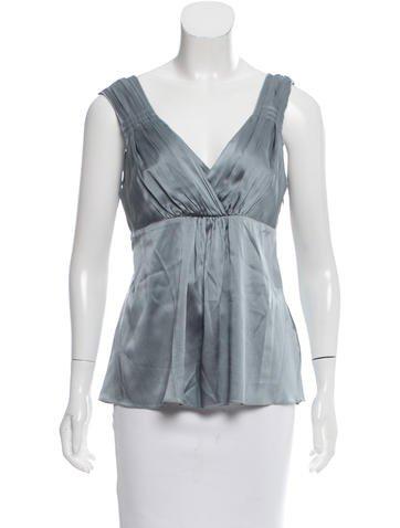 Magaschoni Silk Sleeveless Top None