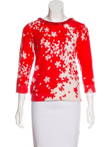 Magaschoni Cashmere Embellished Sweater None