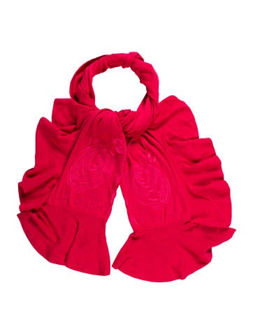 Magaschoni Ruffle-Trimmed Knit Scarf None