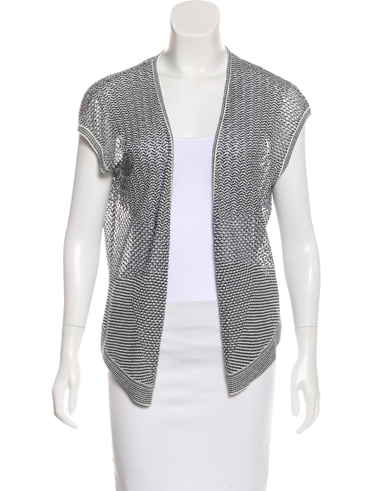Magaschoni Short Sleeve Knit Cardigan - Clothing - WN125860 | The ...