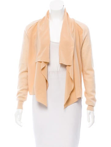 Magaschoni Cashmere & Silk Open Front Cardigan None