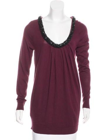 Magaschoni Silk & Cashmere-Blend Sweater None