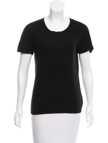 Magaschoni Cashmere Short Sleeve Sweater None
