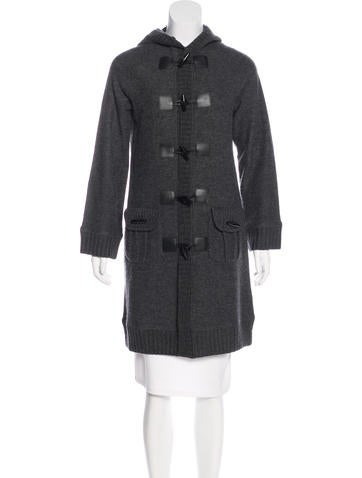 Magaschoni Leather-Trimmed Wool Coat None