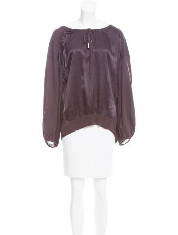 Magaschoni Silk Long Sleeve Top None
