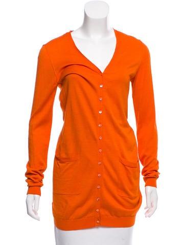 Magaschoni Silk-Blend Knit Cardigan None