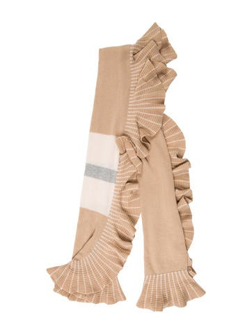 Magaschoni Ruffle-Accented Cashmere Scarf w/ Tags None