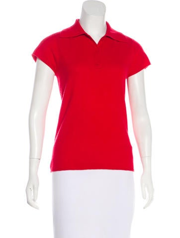 Magaschoni Cashmere Polo Top None