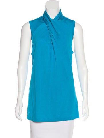 Magaschoni Silk & Cashmere-Blend Top None