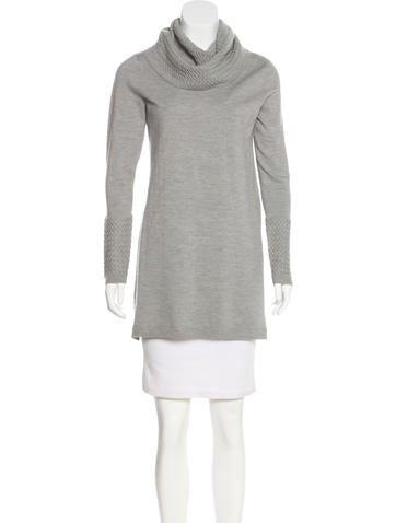 Magaschoni Turtleneck Sweater Dress None