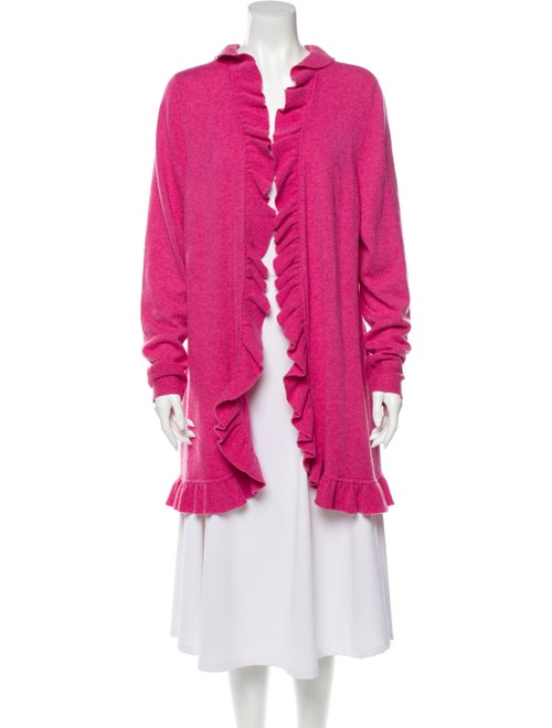 Magaschoni Cashmere Open Front Sweater Pink