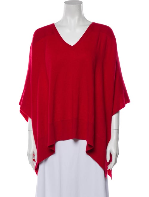 Magaschoni Cashmere Poncho Red