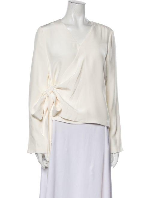 Partow Silk V-Neck Blouse White