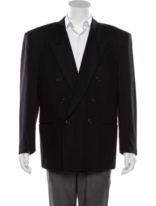 Maxfield Wool Double-Breasted Blazer black