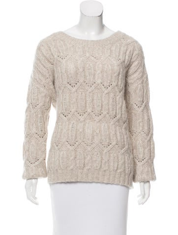Nili Lotan Alpaca Open Knit Sweater None