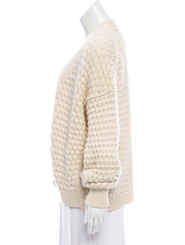 Wool Open Front Cardigan