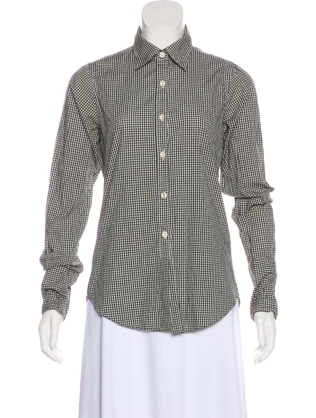 Clearance High Quality Get Authentic Sale Online Nili Lotan Gingham Button-Up Comfortable Sale Online Shop Visa Payment Sale Online G4y0wwe3VW