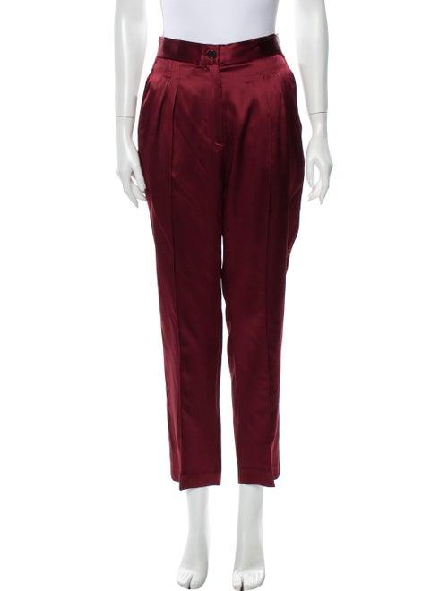Nili Lotan Silk Straight Leg Pants