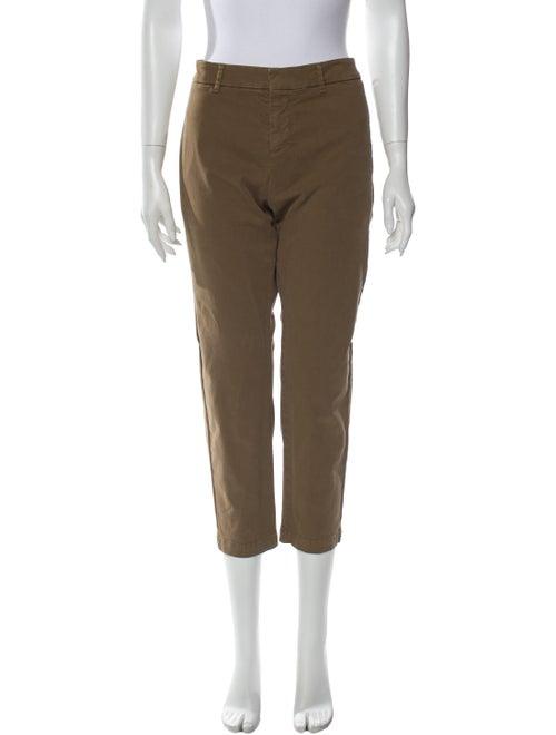 Nili Lotan Straight Leg Pants Brown