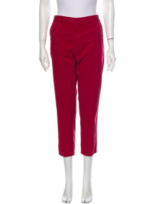 Nili Lotan Straight Leg Pants Red
