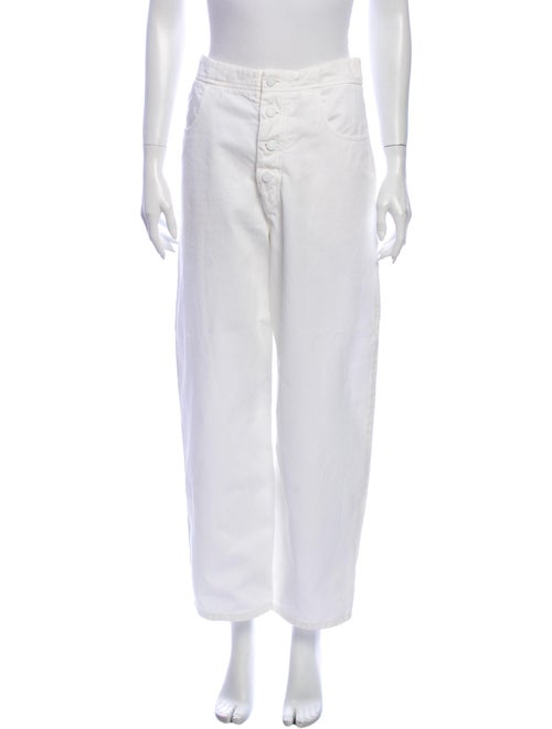 Nili Lotan Wide Leg Pants White