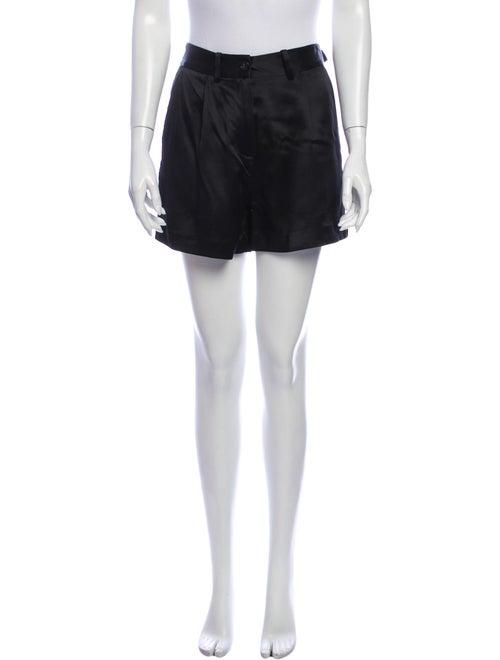 Nili Lotan Silk Mini Shorts Black