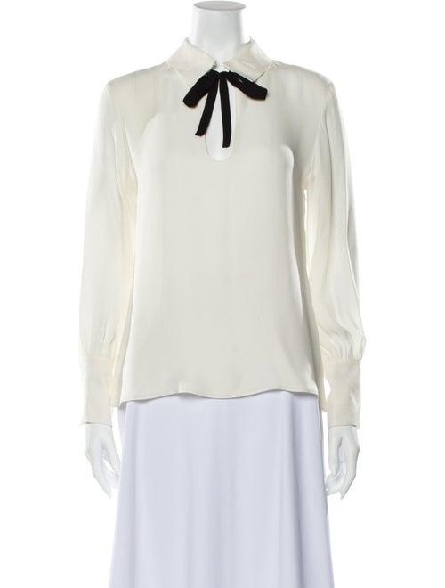 Nili Lotan Silk Long Sleeve Blouse