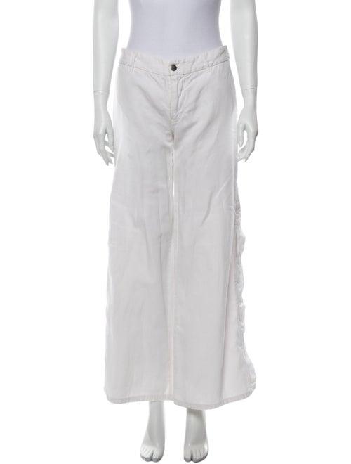Nili Lotan Wide Leg Pants White