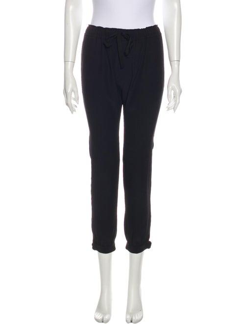Nili Lotan Silk Skinny Leg Pants Black