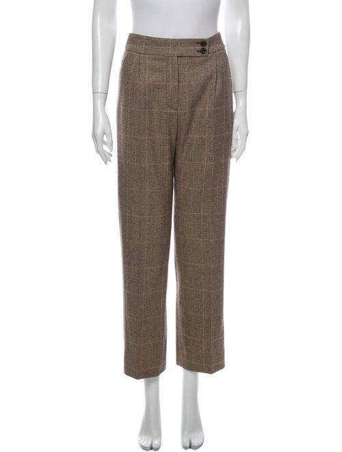 Nili Lotan Wool Straight Leg Pants Wool