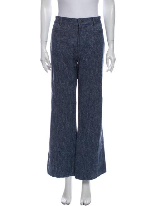 Nili Lotan Wide Leg Pants Blue