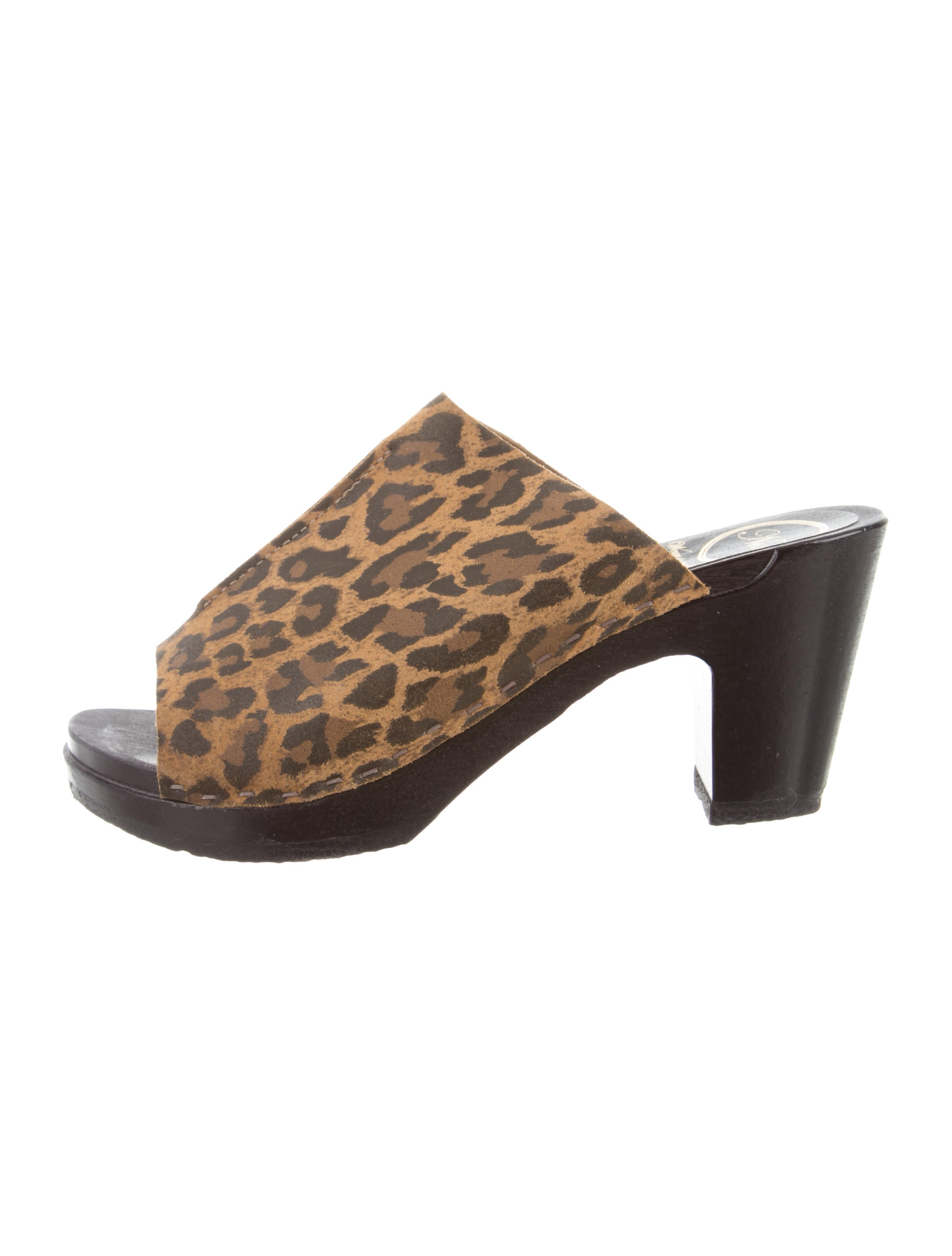 No.6 Leopard Print Slide Sandals