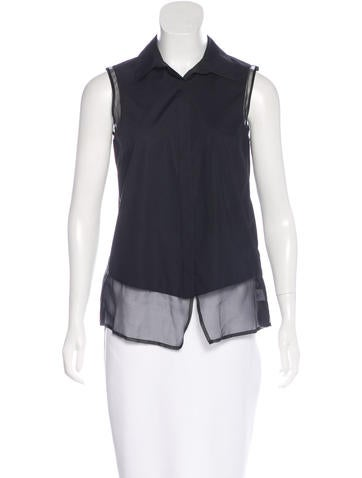 Nonoo Sleeveless Button-Up Top None