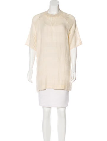 Nanushka Linen Open Knit Tunic None
