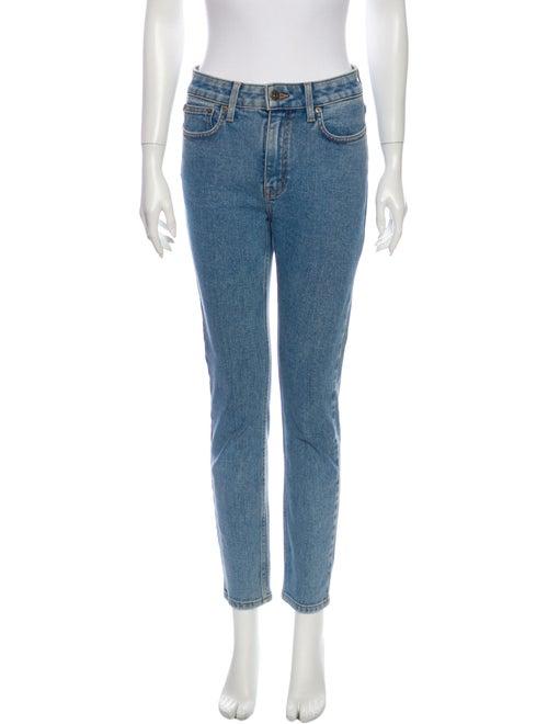 Nanushka Mid-Rise Skinny Leg Jeans Blue