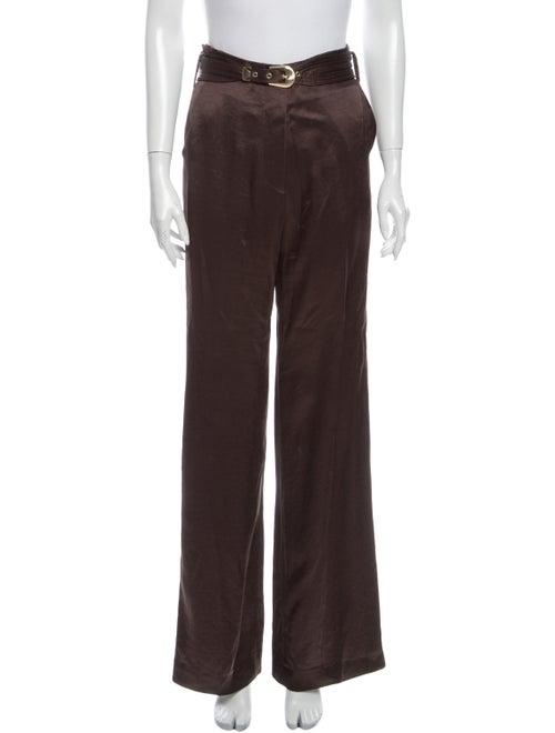 Nanushka Wide Leg Pants Brown