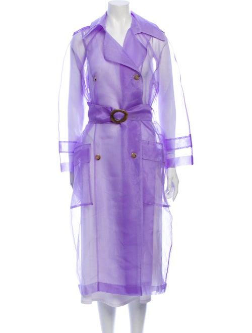 Nanushka Trench Coat Purple